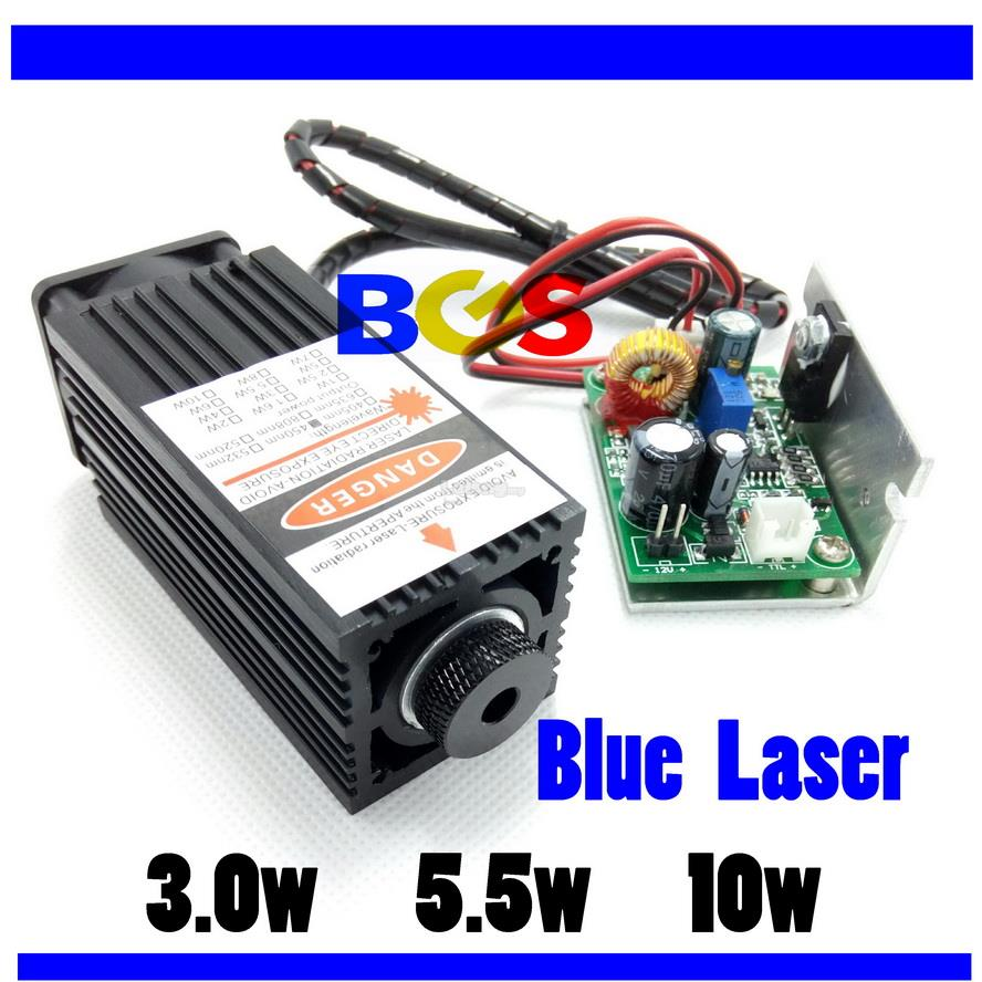 CNC ~ 3.0w , 5.5w ,10w Blue  450NM  Laser Modules