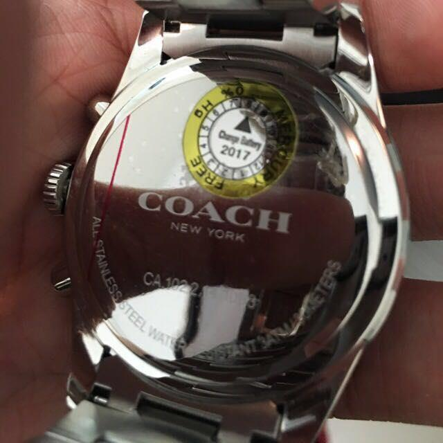 Coach SULLIVAN SPORT STAINLESS STEEL CHRONO BRACELET WATCH