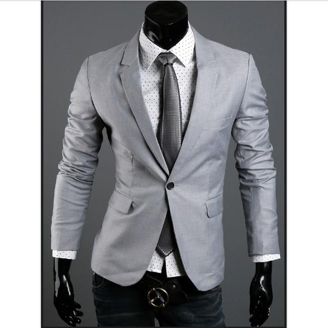 Coat Luxury Button Design Long Sleeves Lapel Coat Light Grey
