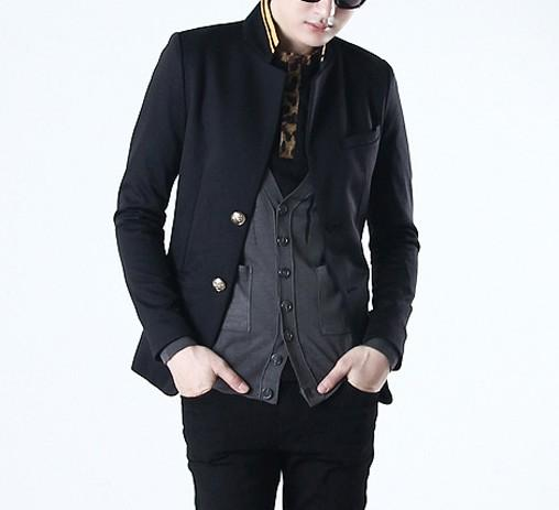 Blazer Coat Image Men's Blazer Coat Black