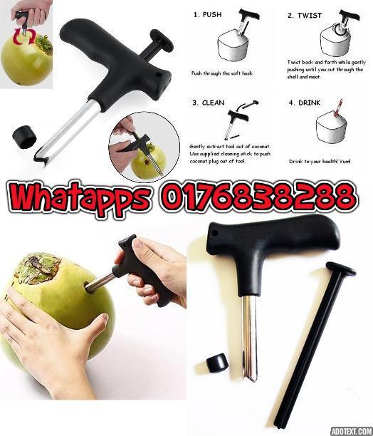Coconut Kelapa Drill Steel Blade Knife Opener Tools