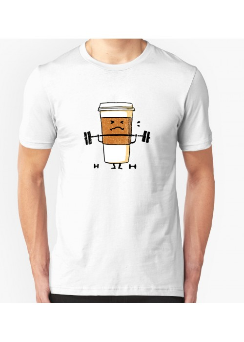 Coffee work out men women tshirt tee shirt cotton end 3 for How to get coffee out of shirt