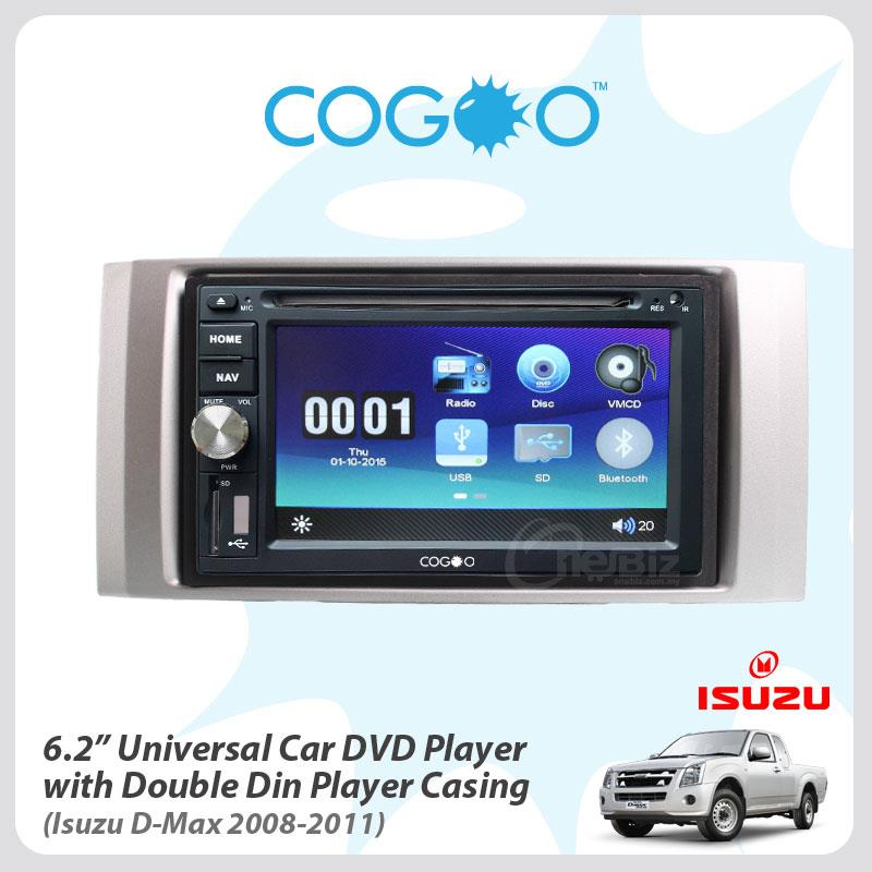 Cogoo 6.2' Universal Car DVD Player+Casing For Isuzu D-Max-08'11
