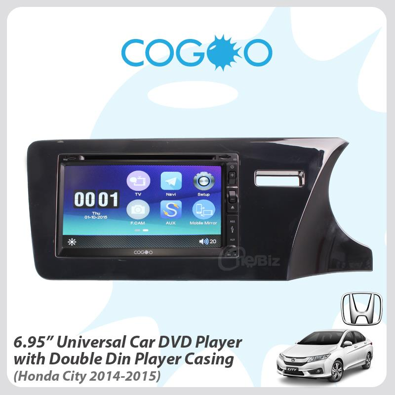Cogoo 6.95'Universal Car DVD Player + Casing for Honda City '14-'15