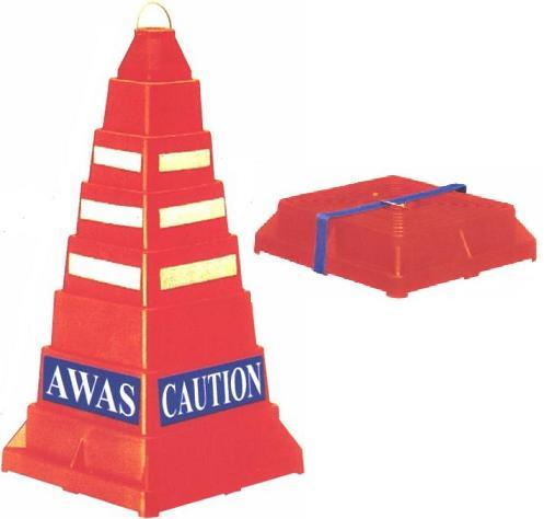 Collapsible Safety Active Square Cone AM-SC02