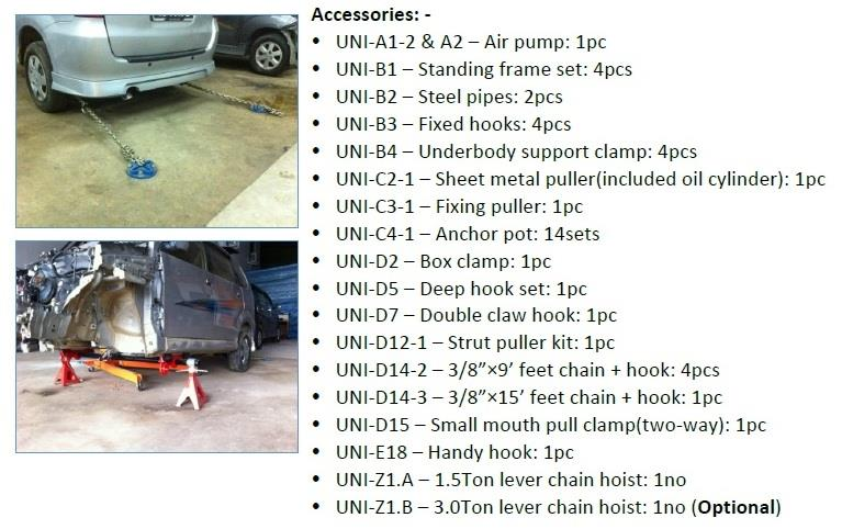 Collision Repair System Surface Mounted Steel Plate Type