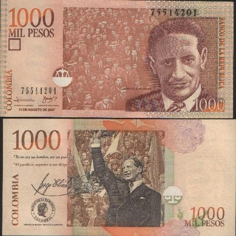 Colombia 1000 Pesos P-New 2010 UNC