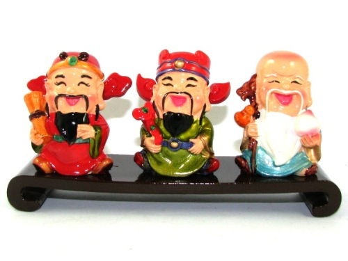 Colorful Adorable Mini Fuk Luk Sau Statues