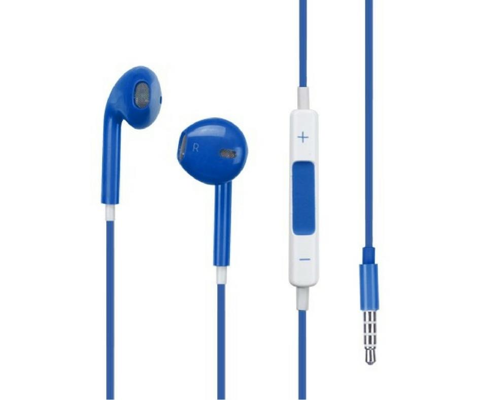 Colorful Earphone/Handsfree with Volume Control and Mic Android/iPhone