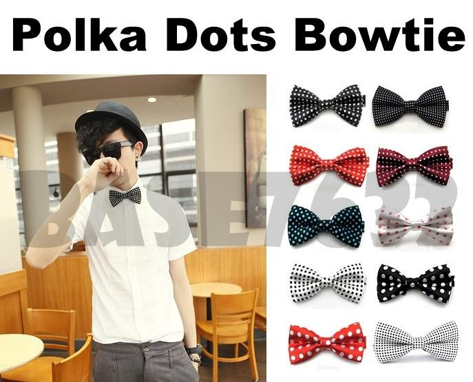 Colorful  Polka Dots Men Man Bowtie Necktie Neckwear Bow Tie 1649.1