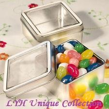 Colorful Square Metal Wedding Favour Tin Boxes Favor