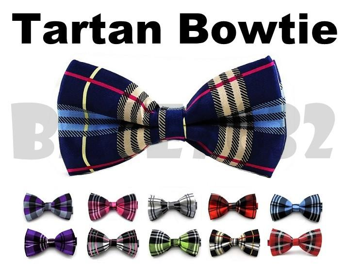 Colorful  Tartan Men Man Bowtie Necktie Neckwear Bow Tie 1651.1