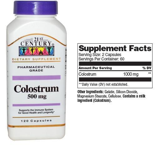 Colostrum 500mg Supports immune System 120 caps, Made In USA