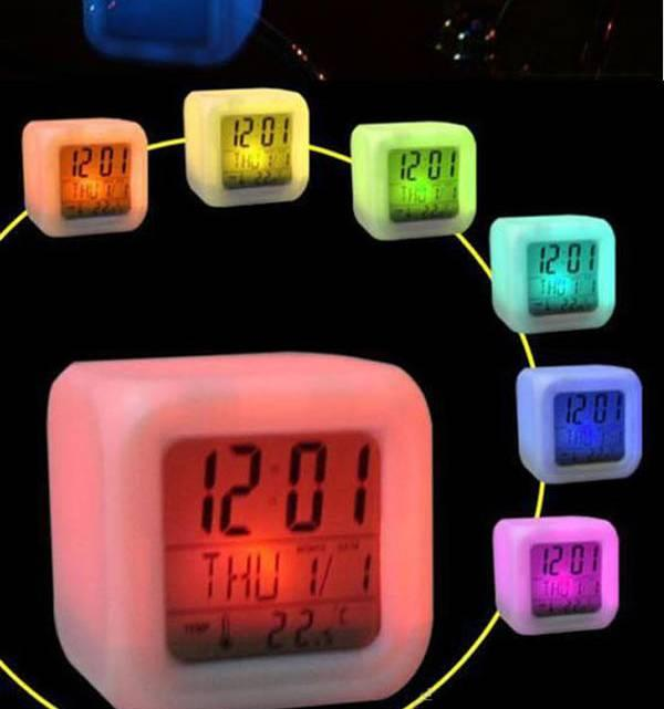 Colour Changing LED Clock Many Designs