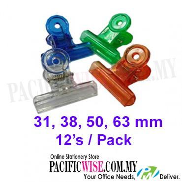 COLOUR - SPRING CLIP (12PCS/PKTS)-38MM