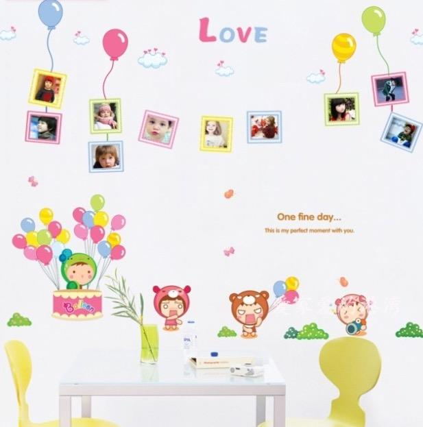 Colourful Cartoon Frame Kids Room Decoration Wall Stickers