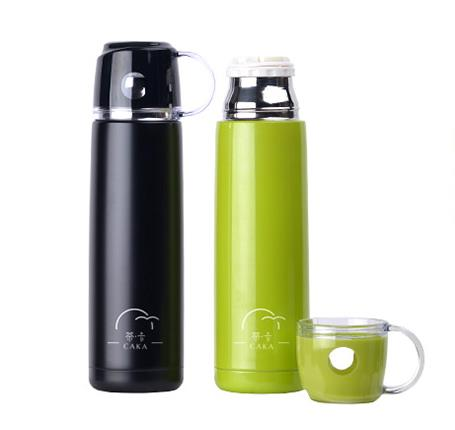 Colourful Insulation Bottle with Cup 380ml 500ml