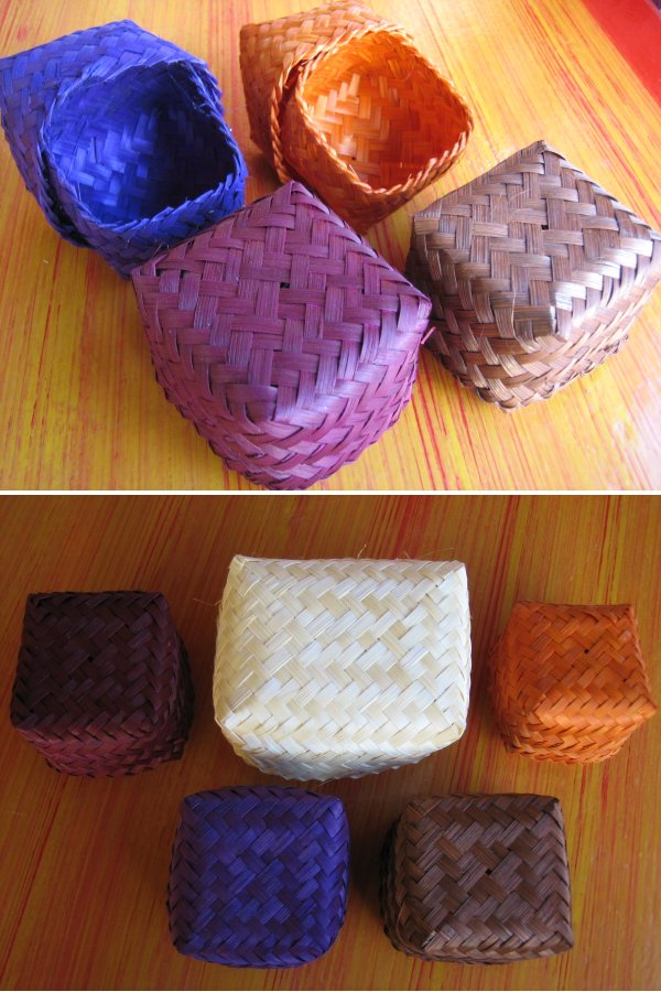 <B>COLOURFUL SMALL SIZE BAMBOO BOX SUITABLE FOR GIFTS & SOURVENIRS</B>