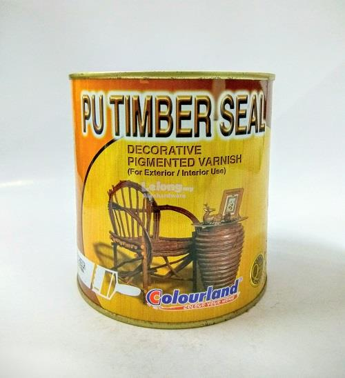 COLOURLAND PU TIMBER SEAL 500ML #TS120 MAROON*STOCK CLEARANCE