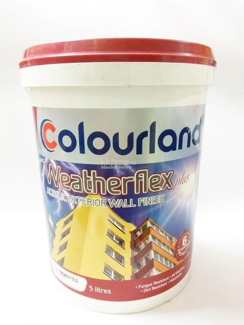 COLOURLAND Weatherflex Exterior Paint 5L-#9696 Colourland Yellow