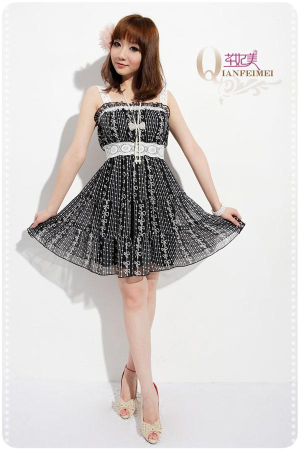 *Comax Store*Charming Sweet and Girly Dress,Black [M99850]