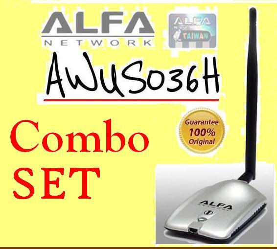 Combo Alfa AWUS036H Network Adapter Realtek RTL8187 chipset