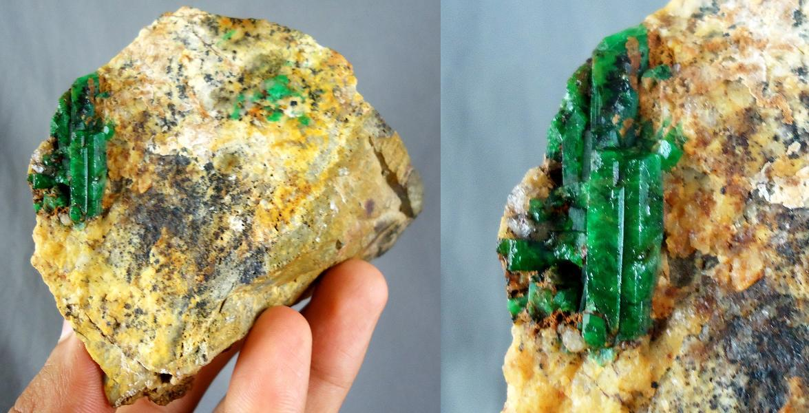 Combo size!!!! Green emerald rough stone from Zambia - 2460CT - ER102