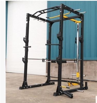 COMMERCIAL Gym Multifunction Squat Cage Rack Lat Pull Rowing Machine