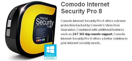 Comodo Internet Security Pro 8 Edition 2016 1 user / 3 users / 5 users