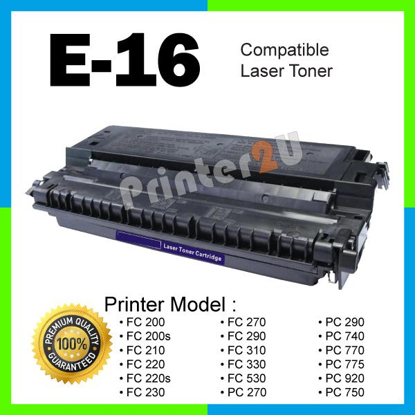 Compatible Canon E16 FC 200 200s 210 220 220s 230 290 310 330 PC-270
