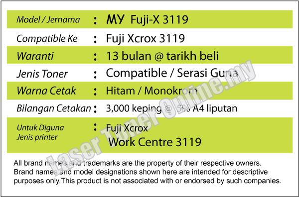 MY Compatible Fuji Xerox 3119 WorkCentre/Work Centre Black/BK Toner