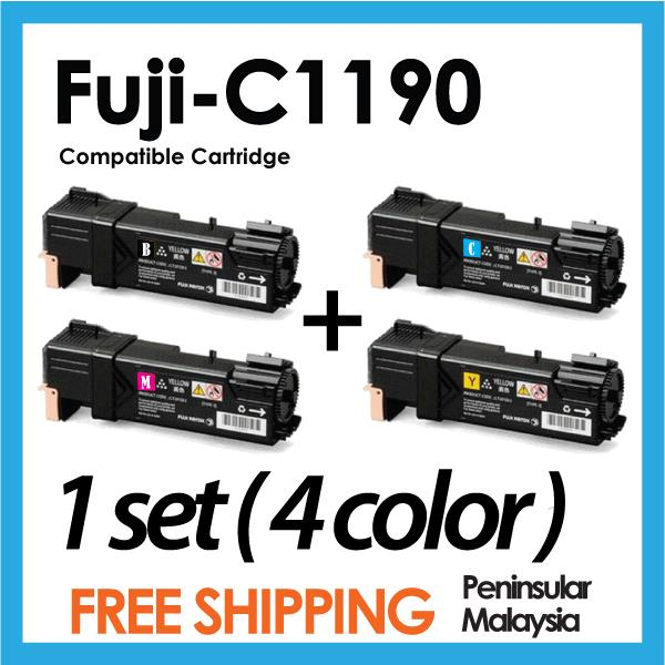 Compatible Fuji Xerox C1190 Color Cartrige Black/Cyan/Magenta/Yellow