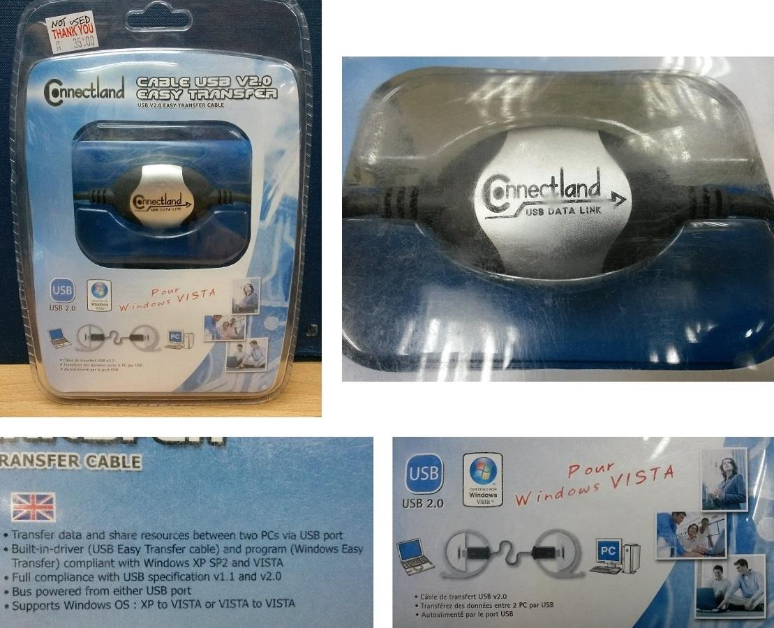 CONNECTLAND Cable USB V2.0 Easy Transfer