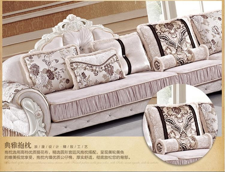 Continental fabric sofa L-shaped corner minimalist neo-classical set