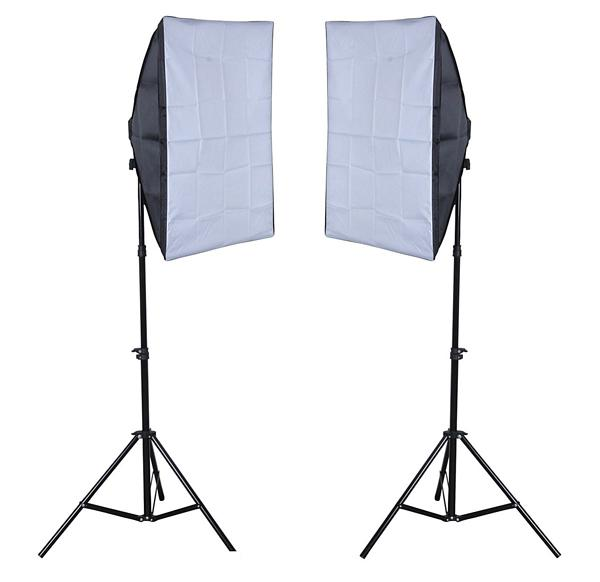 Continuous Lighting Kit for Video & Photo 2 Lights 8 bulbs FREE Bag