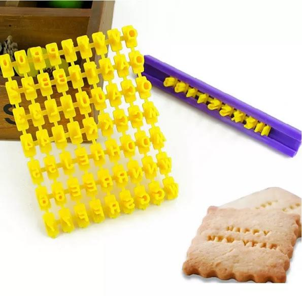 Cookies Letters Number Press Set Biscuit Press Mould
