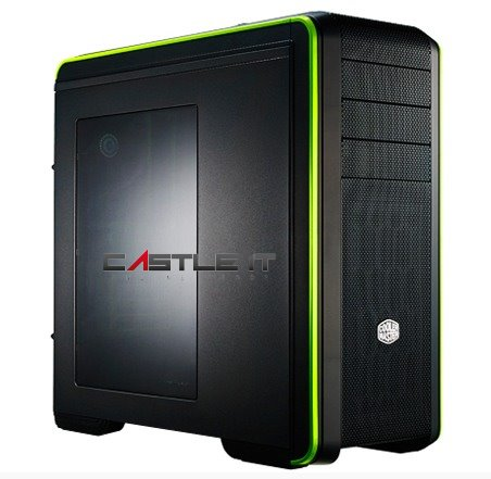 COOLER MASTER Casing ATX RC693 III ADVANCED WINDOW CMS-693-GWN1 GREEN