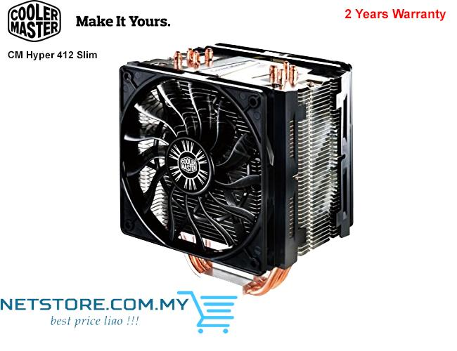 COOLER MASTER CM HYPER 412 SLIM CPU COOLER - 120mm