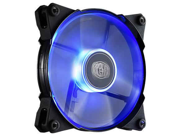 COOLER MASTER JETFLO 120 CASE FAN - BLUE / RED / WHITE LED