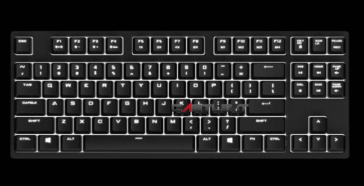 COOLER MASTER Keyboard QUICKFIRE RAPID-i (SGK-4040-GKCR1-US) MX RED