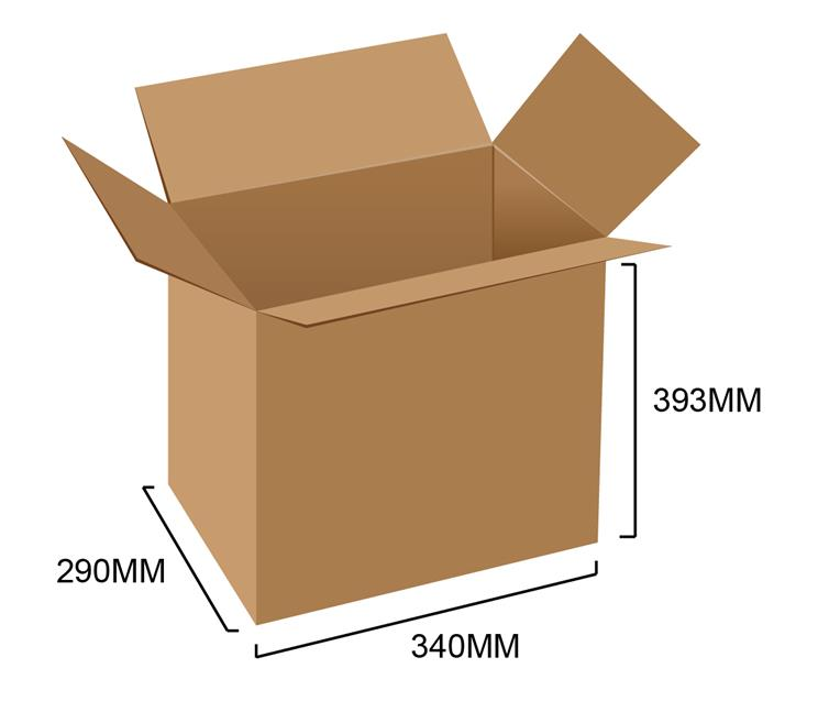 Corrugated Box 13.4' x 11.4' x 15.5' (10pcs)