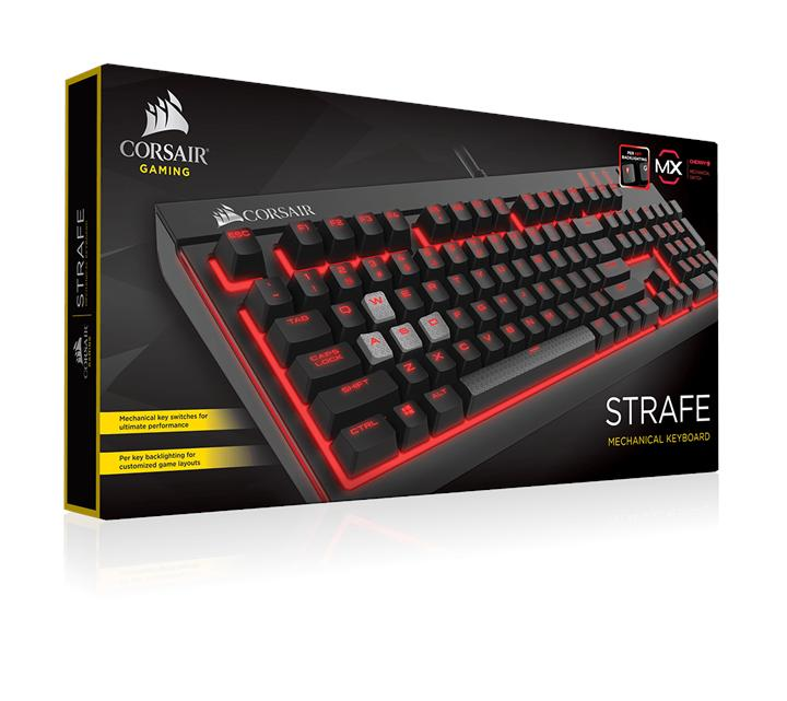 CORSAIR STRAFE MECHANICAL GAMING KEYBOARD MX BROWN CH-9000092-NA