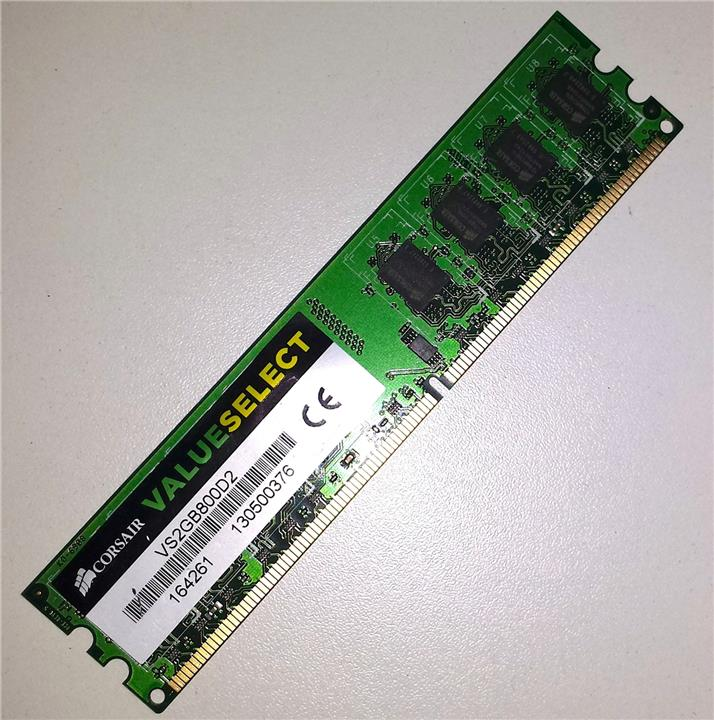 Corsair ValueSelect 2GB DDR2 PC2 Dektop PC RAM VS2GB800D2