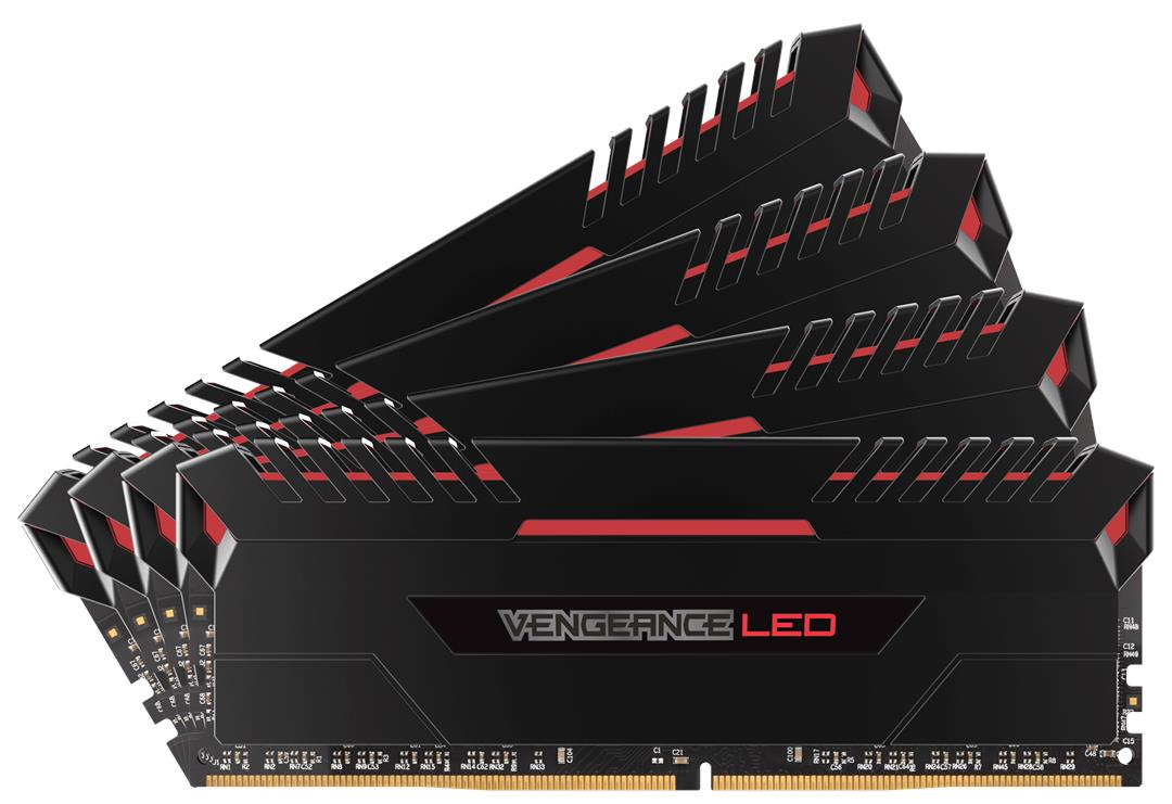 CORSAIR VENGEANCE LED 32GB KIT DDR4 3400MHZ RAM (4 X 8GB) RED LED