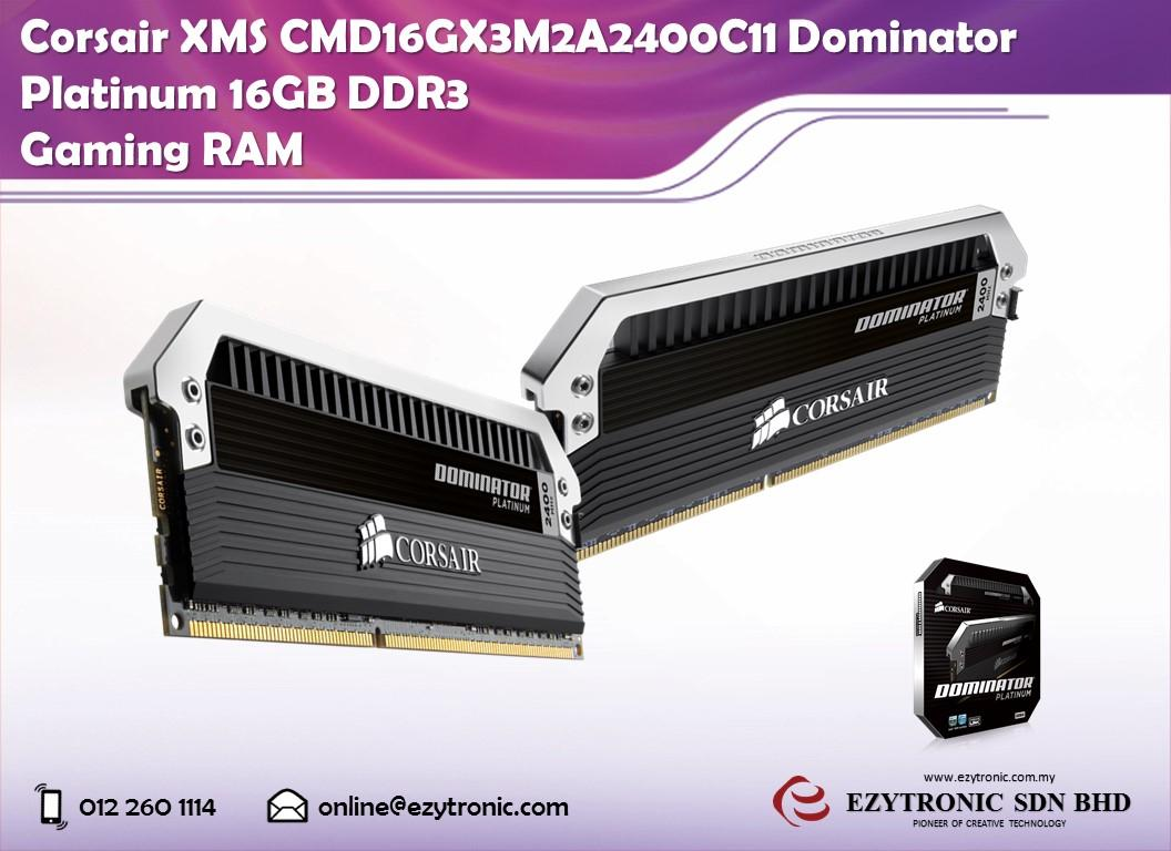 Corsair XMS CMD16GX3M2A2400C11 Dominator Platinum 16GB DDR3 Gaming RAM