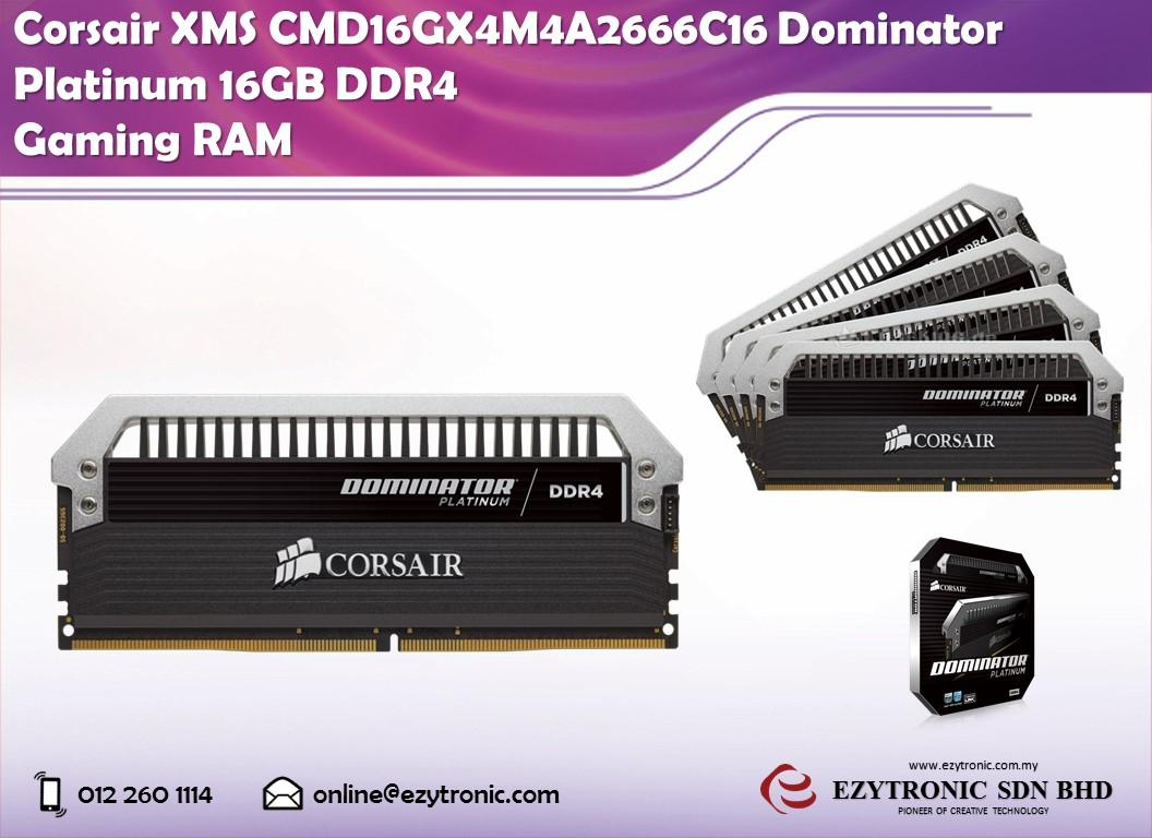 Corsair XMS CMD16GX4M4A2666C16 Dominator Platinum 16GB DDR4 Gaming RAM
