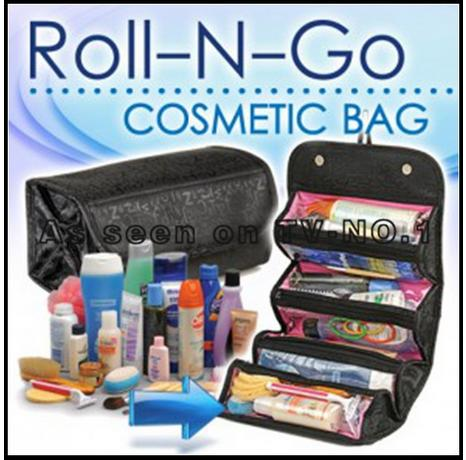 COSMETIC BAG roll n go travel bag 4 compartment portable cases