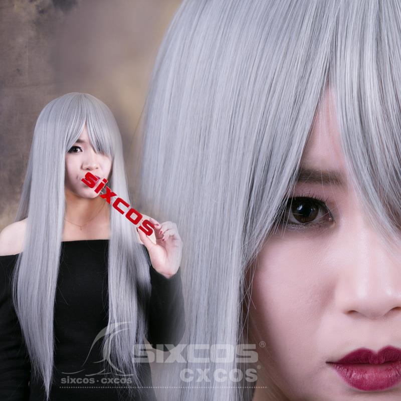 Cosplay Grey wig OI2/ready stock/ rambut palsu