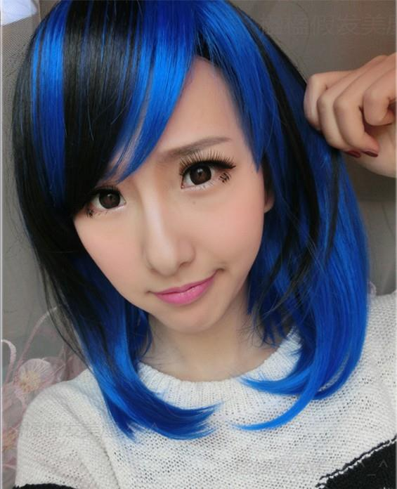 Cosplay hair wig O510ready stock/ rambut palsu/blue