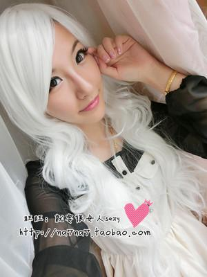 Cosplay long curve/Pure White 80cm/ready stock/rambut pals